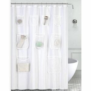 The Best Shower Curtain Option: Mrs Awesome Water-Repellent Fabric Shower Curtain