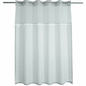 The Best Shower Curtain Option: River dream Waffle Weave Fabric Shower Curtain