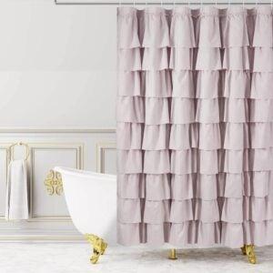 The Best Shower Curtain Option: WestWeir Ruffle Shower Curtain