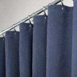 The Best Shower Curtain Option: mDesign STALL Sized Premium 100% Cotton Waffle Weave