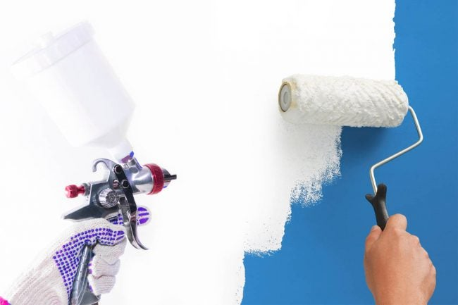 Spraying vs. Rolling Paint