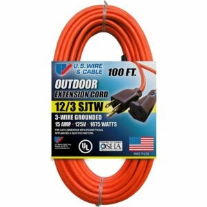 The Best Extension Cord Option: US Wire and Cable 65100 SJTW General Purpose Cord
