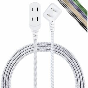 The Best Extension Cord Option: Cordinate, Gray/White, Designer 3 Extension Cord