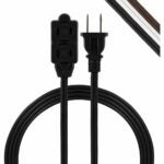 The Best Extension Cord Option: GE, Black, 3-Outlet Power Strip, 6 ft Extension Cord