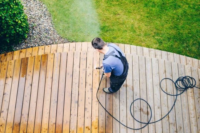 Wash Before Sealing the Deck
