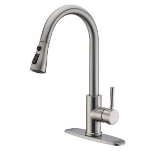 The Best Kitchen Faucet Option: WEWE Single Handle High Arc Brushed Nickel