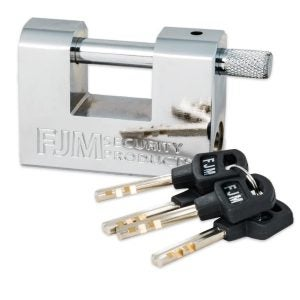 The Best Padlock Option: FJM Triple Chrome Plated Padlock