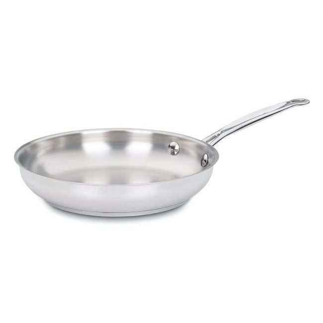 The Best Frying Pan Option: Cuisinart Chef's Classic Stainless10-inch Open Skillet