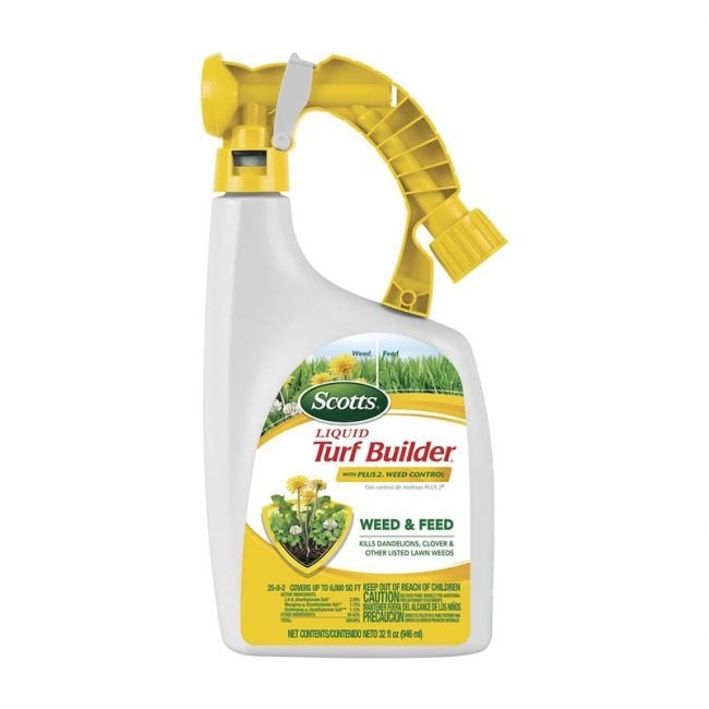 The Best Weed and Feed Option: Scotts Liquid Turf Builder Weed Control