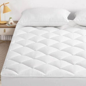 The Best Cooling Mattress Pad Option: SOPAT Quilted Plush Cooling Mattress Pad