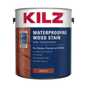 最佳栅栏染色剂选择:KILZ L832211外防水木染色剂