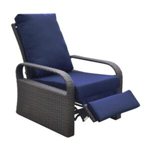 The Best Lounge Chair Option: ART TO REAL Outdoor Wicker Recliner Chair