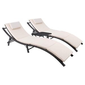 Best Patio Chairs: Devoko Patio Chaise Lounge SetThe Best Lounge Chair Option: Devoko Patio Chaise Lounge Set