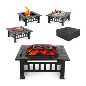 最好的庭院加热器选项:Hembor 32户外火坑桌