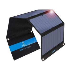 The Best Solar Charger Option: BigBlue 3 USB Ports 28W Solar Charger