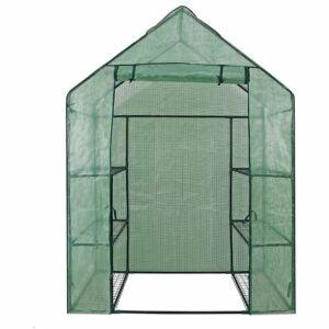 最佳紧凑型温室选项:Nova Mini步行温室,6架货架