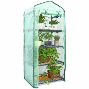 最佳紧凑型温室选择:Ohuhu迷你温室室内室外4层