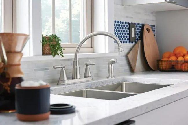 Types of Kitchen Faucets: Two-Handle Faucet