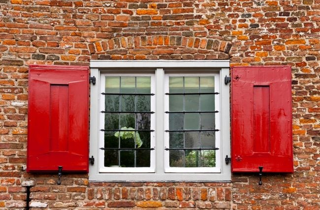 Weep Holes in Brick Above Window