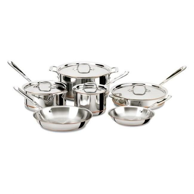 最佳铜炊具选择:全包铜芯5层炊具套装