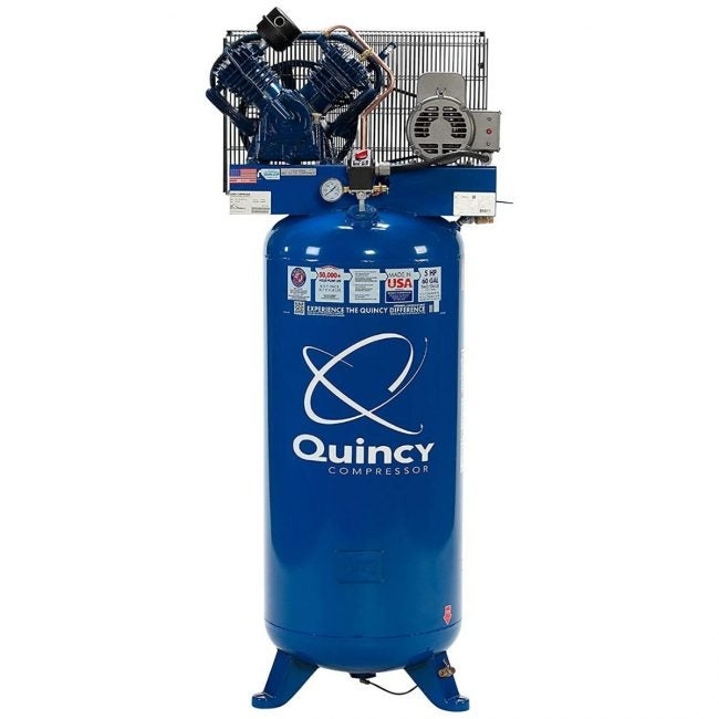 The Best Home Air Compressor Option: Quincy QT-54 Splash Lubricated 60-Gallon Reciprocating Air Compressor