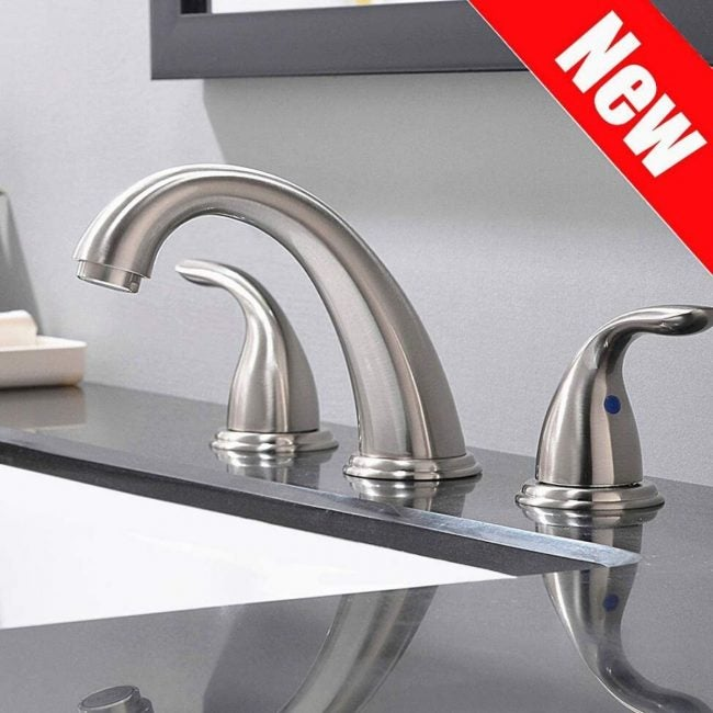 The Best Bathroom Faucets Option: Phiestina 2 Handles, 3 Holes Deck Mount Faucet