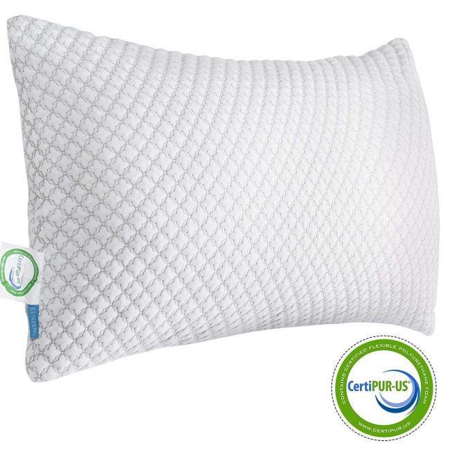 最佳冷却枕选择:昆鹏切碎内存泡沫床枕头