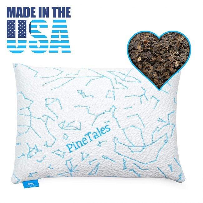 最佳冷却枕头选择:松果,优质有机荞麦枕头