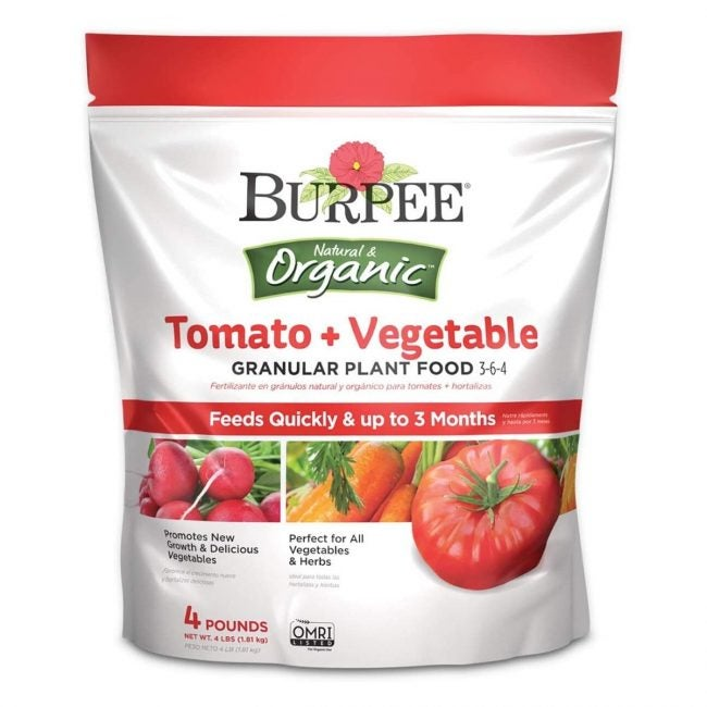 The Best Fertilizer for Tomatoes Option: Burpee Organic Tomato and Vegetable Plant Food