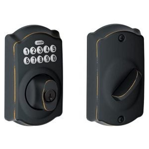 The Best Keypad Door Lock Option: Schlage 09723009827 BE365VCAM716 Camelot Keypad