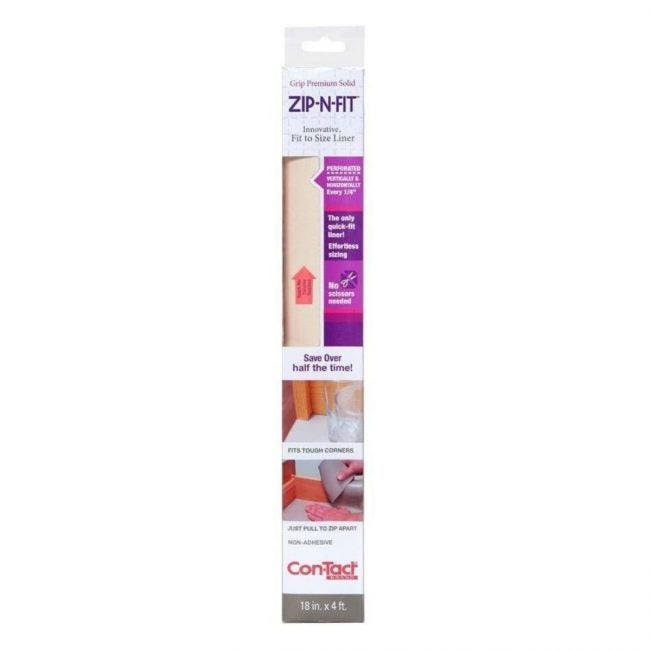 The Best Best Shelf Liner Option: Con-Tact Brand Zip-N-Fit Solid Grip Adhesive Shelf Liner