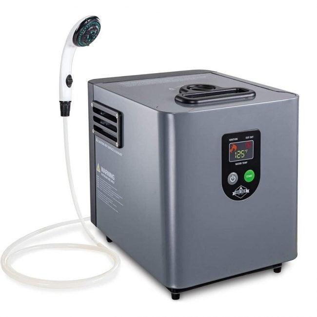 最好的无水热水器选择:徒步船员便携式丙烷热水器