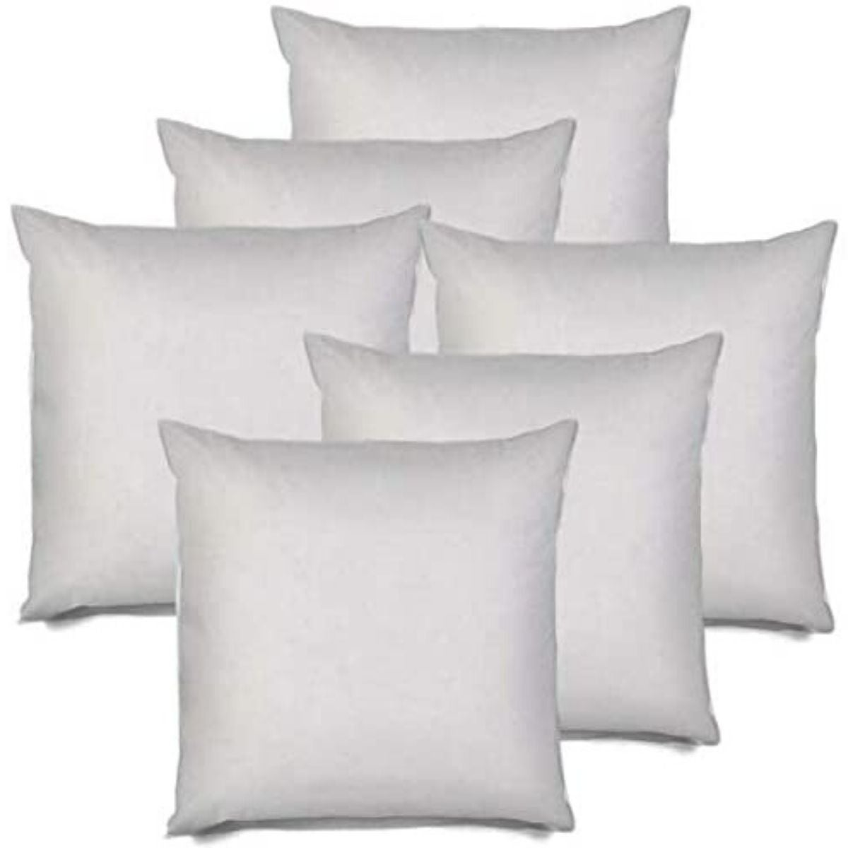 Pure White Homehold 2 Pack 18 x 18 Inch Square Pillow Inserts for Sofa Decorative Throw Pillow Inserts with 100/% Cotton Cover