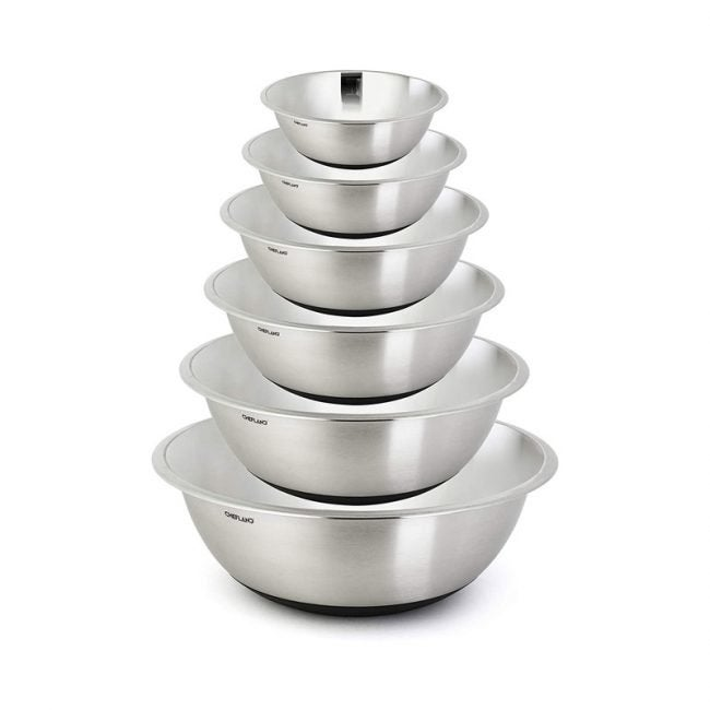 The Best Mixing Bowl Option: ChefLand Non Slip Stainless Steel Mixing Bowls