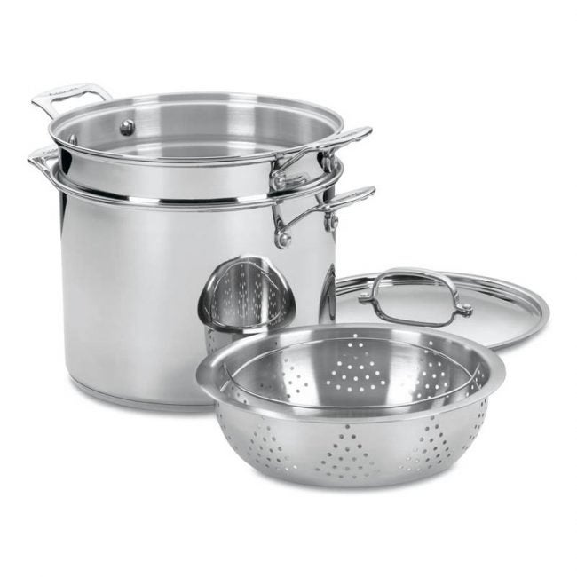The Best Pasta Pot Option: Cuisinart 77-412 Chef's Classic Stainless 4-Piece