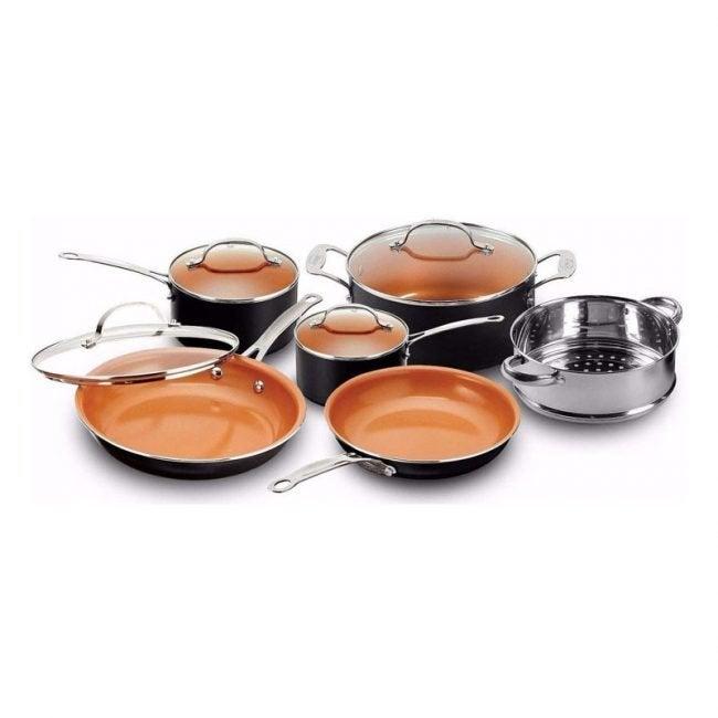 最佳铜炊具选择:高谭钢十件套煎锅和炊具套装