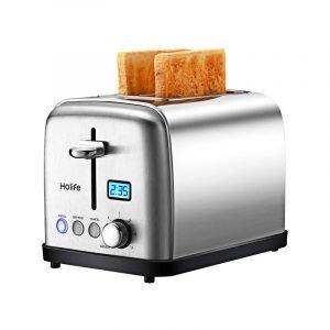 最佳烤面包机选择:holive不锈钢烤面包机