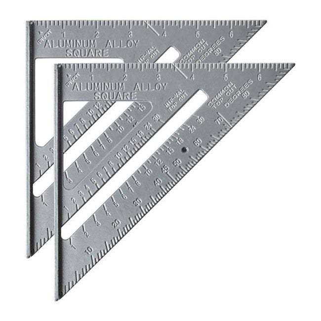 The Best Speed Square Option: Mr. Pen Metal 7-Inch Rafter Square (Pack of 2)