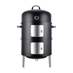 The Best Charcoal Smoker Option: Realcook Vertical 17 Inch Steel Charcoal Smoker