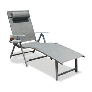 The Best Folding Chair Option: GOLDSUN Aluminum Outdoor Folding Chaise Lounge Chair