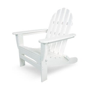 The Best Folding Chair Option: POLYWOOD AD503WH Classic Folding Adirondack Chair