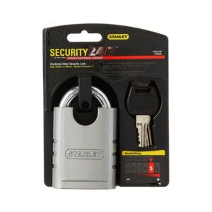 The Best Padlock Option: Stanley Hardware S828-160 Shrouded Padlock
