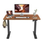 The Best Sit Stand Desk Option: FEZIBO Height Adjustable Electric Standing Desk