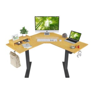 The Best Sit Stand Desk Option: FEZIBO L-Shaped Electric Standing Desk, 48 Inches