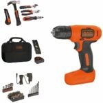 The Best Home Tool Kit Option: Black+Decker 8V Drill & Home Tool Kit, 57 Piece