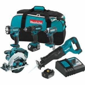最好的家用工具套件选项:Makita XT505 18V LXT锂离子无绳5件