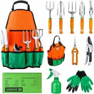 The Best Home Tool Kit Option: Ukoke Garden Tool Set, 12 Piece