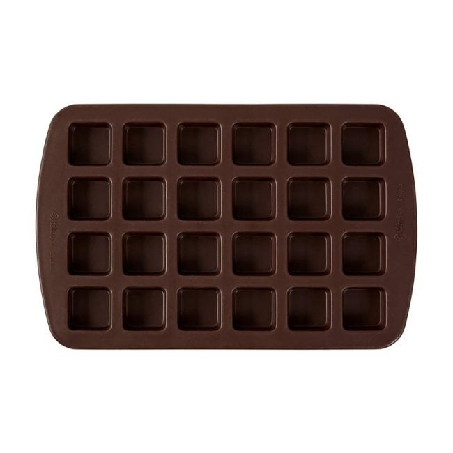The Best Brownie Pan Option: Wilton Bite-Size Brownie Squares Silicone Mold