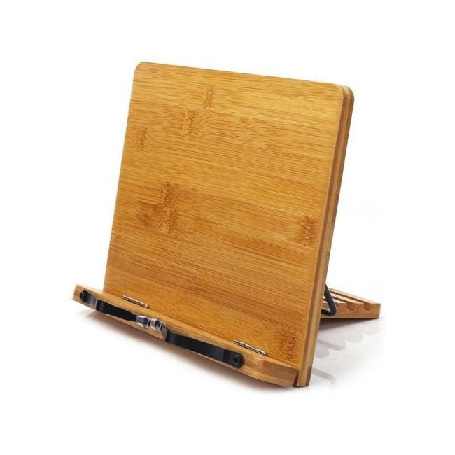 The Best Cookbook Stand Option: Wishacc Bamboo Cookbook Stand