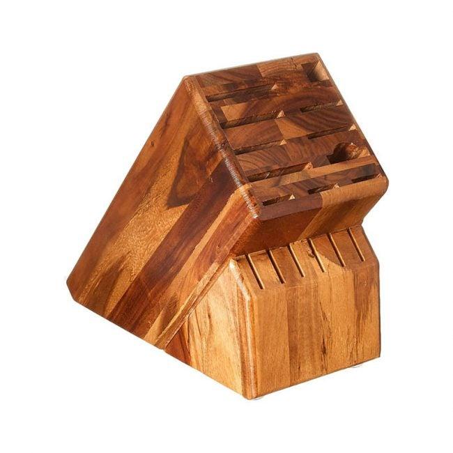 The Best Knife Storage Option: Wusthof 17-Slot Acacia Knife Block